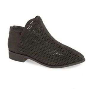 Kelsi Dagger Charcoal Gray Alley Suede Perf Bootie